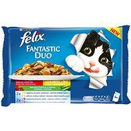 Felix Fantastic Duo lahodný masový výběr v želé se zeleninou  4 × 100 g - Kapsička pro kočky