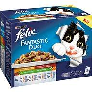 Felix Fantastic Duo lahodný masový výběr v želé se zeleninou 12 × 100 g - Kapsička pro kočky