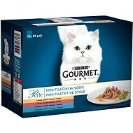 Gourmet Perle multipack  minifiletky ve šťávě – mix. výběr 12×85g - Kapsička pro kočky