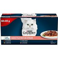 Kapsička pro kočky Gourmet Perle multipack minifiletky ve šťávě mix. výběr  60 × 85 g