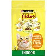 Friskies Indoor pro kočky žijící převážně v bytě s kuřetem a se zeleninou 10kg - Granule pro kočky