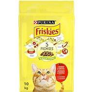 Friskies s hovězím a s kuřetem a se zeleninou 10kg - Granule pro kočky