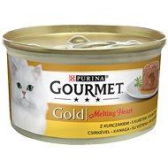Gourmet gold Melting Heart - jemná paštika s omáčkou uvnitř, s kuřetem 85g - Konzerva pro kočky