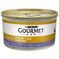 Konzerva pro kočky Gourmet gold Savoury Cake s jehněčím a zelenými fazolkami 85g