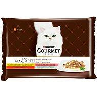 Gourmet A la Carte multipack - kuře, hovězí, pstruh, tmavá treska 4×85g