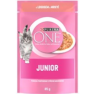 Purina ONE Junior Mini Fillets with Salmon and Carrots in Sauce 85g - Cat Food Pouch