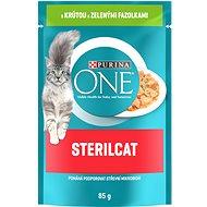 Purina ONE Sterilcat mini filetky s krůtou a zelenými fazolkami ve šťávě 85g - Kapsička pro kočky