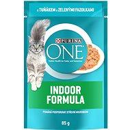 Purina ONE Indoor mini filetky s tuňákem a zelenými fazolkami ve šťávě 85 g - Kapsička pro kočky