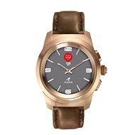 MyKronoz ZeTime Premium Pink Gold/Brown - 44 mm - Chytré hodinky