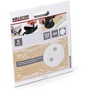 Kreator KRT230555 Sada brusných papírů na barvu G80/125mm, 5ks - Brusný papír