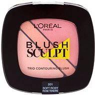 ĽORÉAL PARIS Blush Sculpt Trio Contouring Blush 201 Soft Rosy - Tvářenka