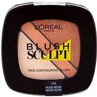 ĽORÉAL PARIS Blush Sculpt Trio Contouring Blush 102 Nude Beige - Tvářenka