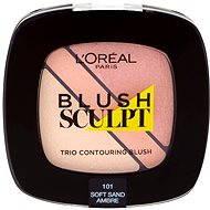 ĽORÉAL PARIS Blush Sculpt Trio Contouring Blush 101 Soft Sand Ambre - Tvářenka