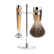 MÜHLE Liscio Horn Brown Pure Badger 3-dílná - Pánská kosmetická sada
