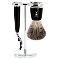 MÜHLE Rytmo Black Pure Badger Mach3 3-dílná - Pánská kosmetická sada