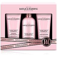 BAYLIS & HARDING Sada péče o tělo - Jojoba, Vanilla & Almond oil 3 × 200 ml - Dárková kosmetická sada