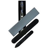 DUKAS Glass Nail Files - Large and Small with Swarovski Stones - Blue Stones - Beauty Gift Set