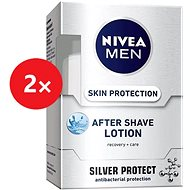 NIVEA Men After Shave Lotion Silver Protect 2× 100 ml