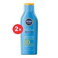 NIVEA SUN Protect & Bronze Lotion SPF 20 2 × 200 ml