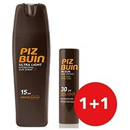 PIZ BUIN Hydration Spray Ultra Light SPF15 + Lipstick Aloe SPF30 - Kosmetická sada