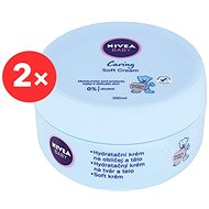 NIVEA Baby Soft Cream Face&Body 2× 200 ml - Dětský tělový krém