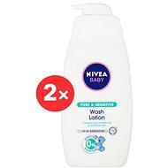 NIVEA Baby Pure & Sensitive Wash Lotion 2× 500 ml - Dětský sprchový gel