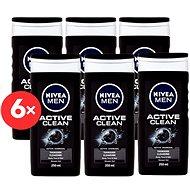 NIVEA Men Active Clean 6 x 250 ml - Sada