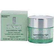 CLINIQUE Superdefense Night Recovery Moisturizer Very Dry To Dry Combination Skin 50 ml - Pleťový krém
