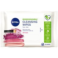 NIVEA Gentle Cleansing Wipes Dry and Sensitive Skin 25 ks - Odličovací ubrousky