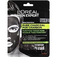 ĽORÉAL PARIS Men Expert Pure Charcoal Tissue Mask 30 g - Pleťová maska