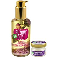 PURITY VISION Organic Rose Oil 100 ml + Organic Lavender Butter 20 ml FREE - Cosmetic Set