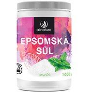 Allnature Epsomská sůl Máta 1 kg - Koupelová sůl