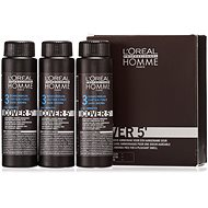 ĽORÉAL PROFESSIONNEL Homme COVER 5' 3 3 x 50 ml barva (3 - tmavě hnědá) - Barva na vlasy pro muže
