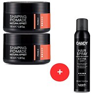 DANDY Natural Efect Shaping Pomade 2 x 100 ml + DANDY Extra Dry Fixing Hair Spray 300 ml
