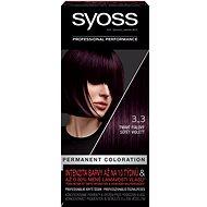 SYOSS Color 3-3 Tmavě fialový 50 ml - Barva na vlasy