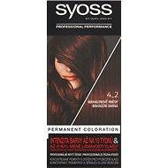 SYOSS Color 4-2 Mahagonově hnědý 50 ml - Barva na vlasy