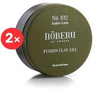 NOBERU Amber-Lime Fusion Clay Gel 2 × 80 ml - Gel na vlasy