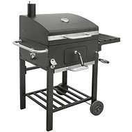 Landmann Charcoal Grill (Trolley) Grillchef COMFORT BASIC +, Cast Iron Grate + Chimney + Cover - Grill