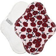 BREBERKY Červené kytičky Slip - Eko menstruační vložky