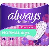 ALWAYS Dailies Normal To Go Fresh Intimky 20 ks - Slipové vložky
