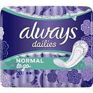 ALWAYS Dailies Normal To Go Intimky 20 ks - Slipové vložky