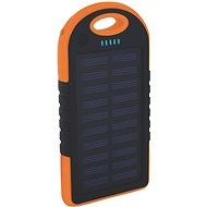 XLAYER Powerbank PLUS Outdoor Solar 4000mAh černá/oranžová - Power Bank