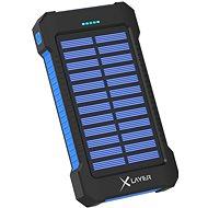 XLAYER Powerbank PLUS Solar 8000mAh černá/modrá - Powerbanka