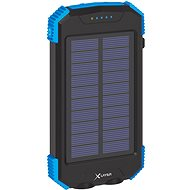 XLAYER Powerbank PLUS Solar QI Wireless 10000mAh černá/modrá