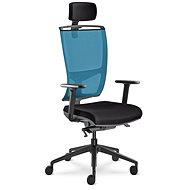 LD Seating Lyra Net modro/černá - Kancelářská židle
