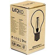 LEDKO FILAMENT E27 6W 2700K - LED žárovka