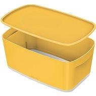 Leitz Cosy MyBox úložný box s víkem, velikost S, žlutý, 5l - Úložný box