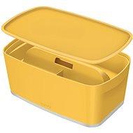 Leitz Cosy MyBox SET úložný box s víkem + organizér s držadlem, žlutá, 5l - Úložný box