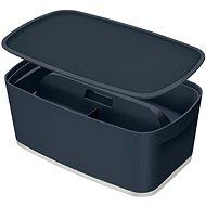 Leitz Cosy MyBox SET úložný box s víkem + organizér s držadlem, šedá, 5l - Úložný box