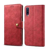 Lenuo Leather pro Samsung Galaxy A7, červená - Pouzdro na mobilní telefon